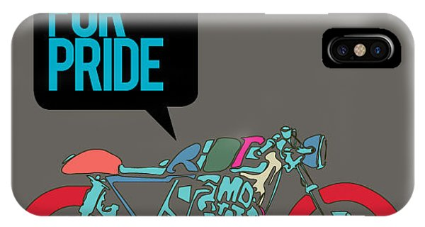 Proud iPhone Case - Vector Motorbike Illustration Ride For by Singpentinkhappy