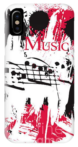 Drop iPhone Case - Vector Music On A Grunge Background by Ozger Sarikaya
