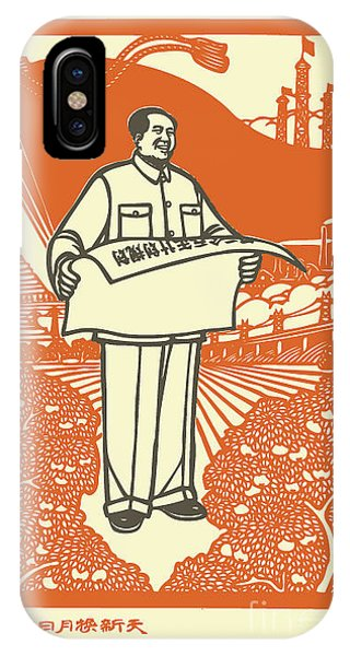 Vector Of Chairman Mao Related Poster Phone Case by Johny Keny