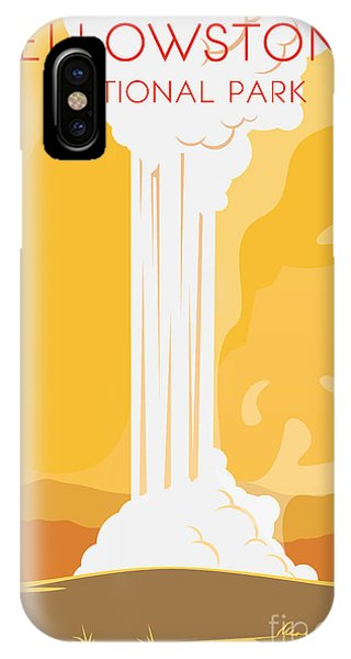 Vector Retro Poster. Yellowstone Phone Case by Red Monkey