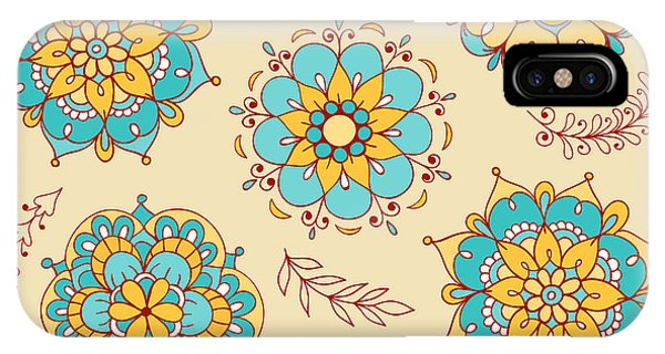 Ornamental iPhone Case - Vector Seamless Pattern, Doodling by Xox