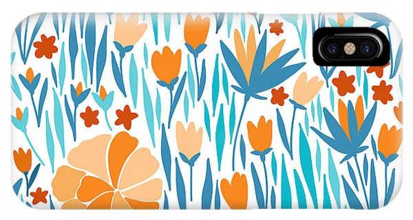 Bouquet iPhone Case - Vector Seamless Pattern With Summer by Maria galybina