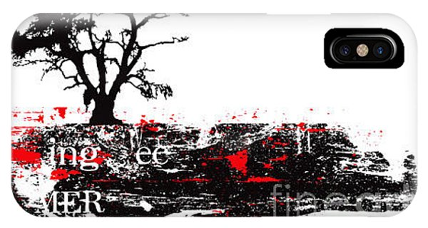 Vector Tree On A Typographic Background Phone Case by Ozger Sarikaya