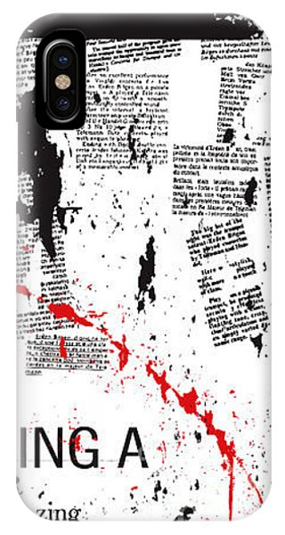 Tear iPhone Case - Vector Typographic Background by Ozger Sarikaya