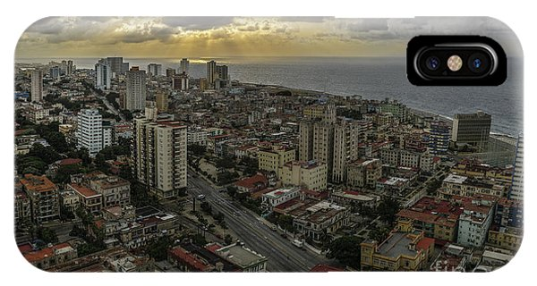 Vedado Havana City Sunset IPhone Case