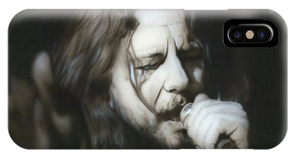 Pearl Jam iPhone Case - Vedder IIi by Christian Chapman Art