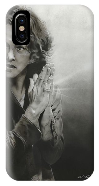 Pearl Jam iPhone Case - Vedder Iv by Christian Chapman Art