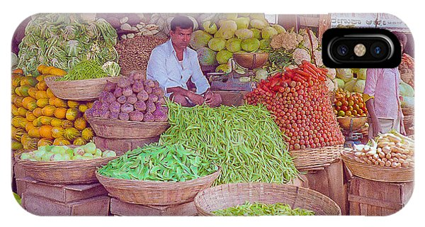 Vegetable Seller In Indian Market IPhone Case