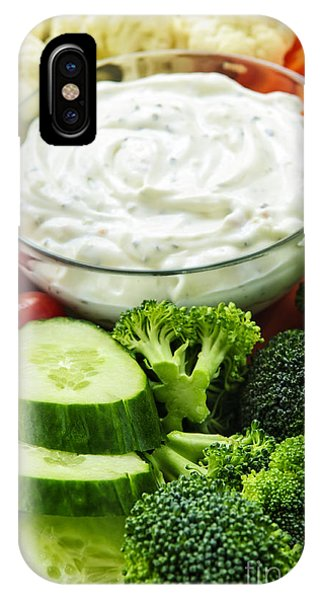 Vegetables And Dip IPhone Case