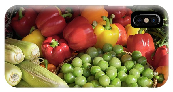Small Business iPhone Case - Vegetables For Sale At A Market Stall by Panoramic Images