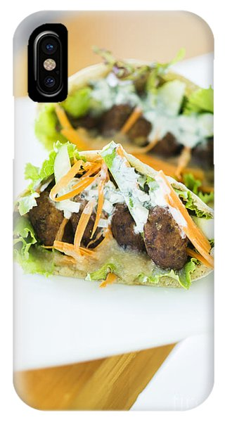 Vegetarian Falafel In Pita Bread Sandwich IPhone Case