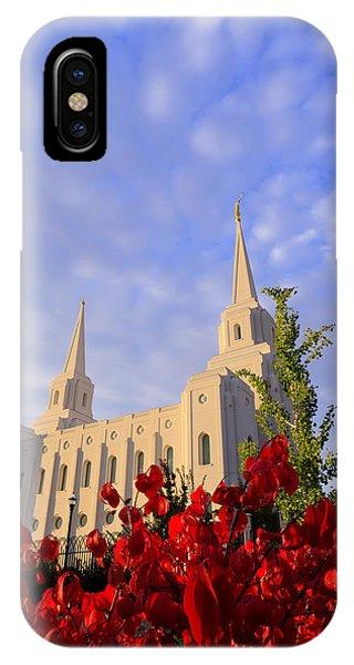 Temple iPhone Case - Velvet by Chad Dutson