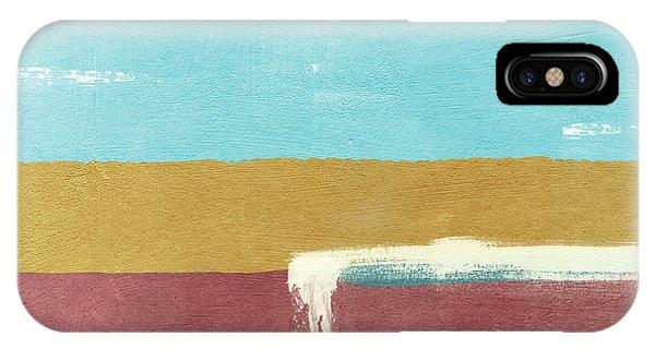 Wedding Gift iPhone Case - Velvet Horizon- Abstract Landscape by Linda Woods