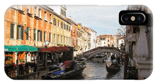 IPhone Case featuring the photograph Venetian Canal by Joe Winkler