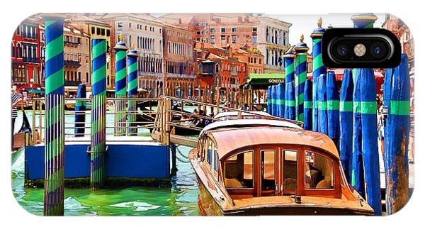 Venetian Water Taxi IPhone Case
