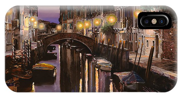 Dusk iPhone Case - Venezia Al Crepuscolo by Guido Borelli