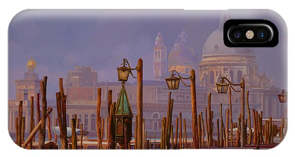 Orange Sunset iPhone Case - Venezia E La Nebbia by Guido Borelli