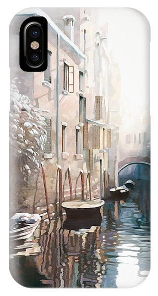 Ice iPhone Case - Venezia Sotto La Neve by Guido Borelli