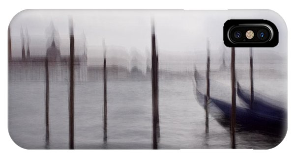 Abstract Black And White Blue Venice Italy Photography Art Work IPhone Case