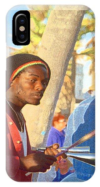 Venice Beach Percussionist IPhone Case