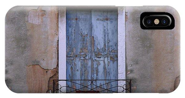 Venice Blue Shutters Horizontal Photo IPhone Case