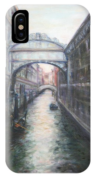 Venice Bridge Of Sighs - Original Oil Painting IPhone Case