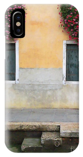 Venice Canal Shutters With Window Flowers IPhone Case