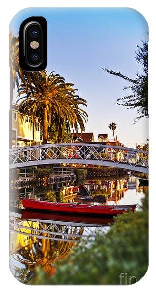 Venice Canal Sunrise IPhone Case