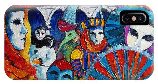 Palace iPhone Case - Venice Carnival by Mona Edulesco