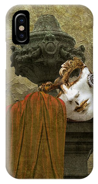 Venice Carnival Masque And Cloak IPhone Case