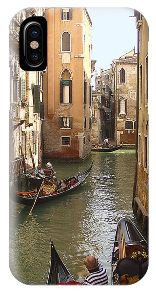 IPhone Case featuring the photograph Venice Gondolas by Karen Zuk Rosenblatt