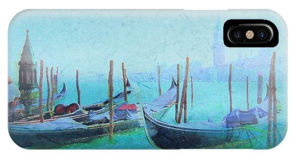 Venice Italy Gondolas With San Giorgio Maggiore IPhone Case