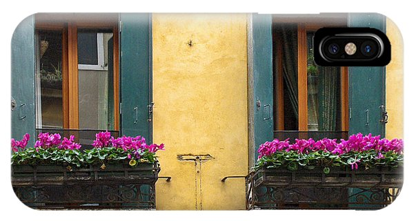Venice Italy Teal Shutters IPhone Case
