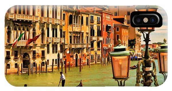 Venice Street Lamp IPhone Case