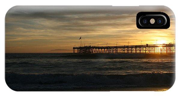 Ventura Pier 01-10-2010 Sunset  IPhone Case