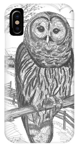 Vermont Barred Owl IPhone Case