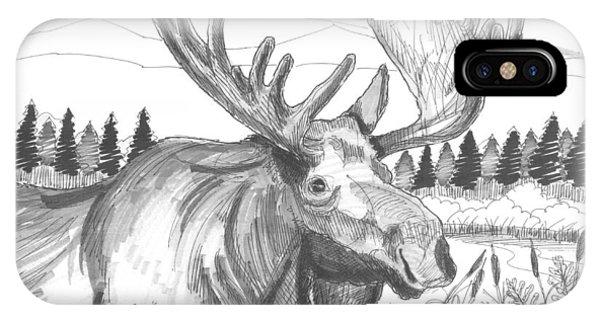 Vermont Bull Moose IPhone Case