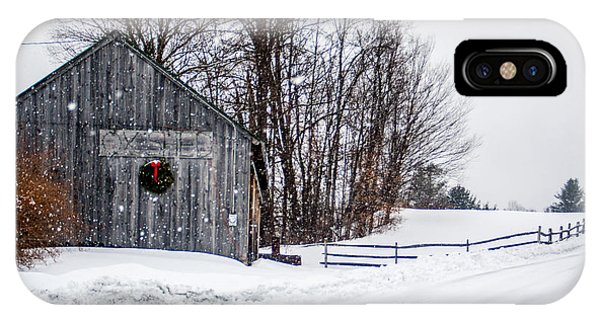 Vermont Christmas Lane IPhone Case