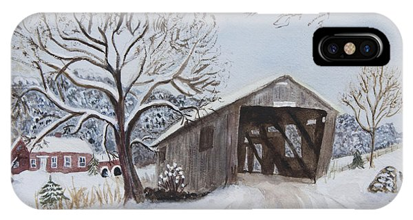 Vermont Covered Bridge In Winter IPhone Case