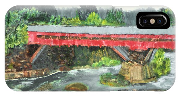 Vermont Covered Bridge IPhone Case
