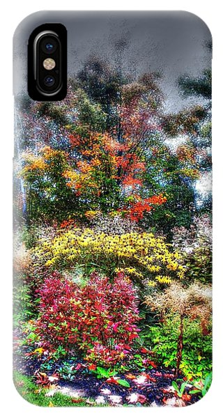 Vermont Fall Garden IPhone Case