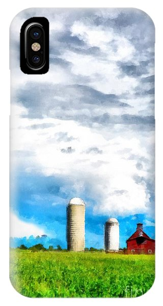 New England Barn iPhone Case - Vermont Farm Scape by Edward Fielding