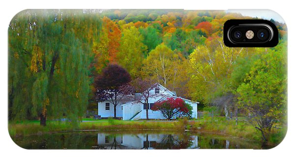 Vermont House In Full Autumn IPhone Case