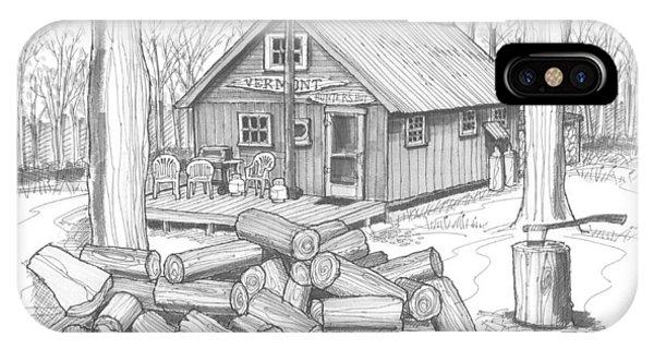 Vermont Hunter Lodge IPhone Case