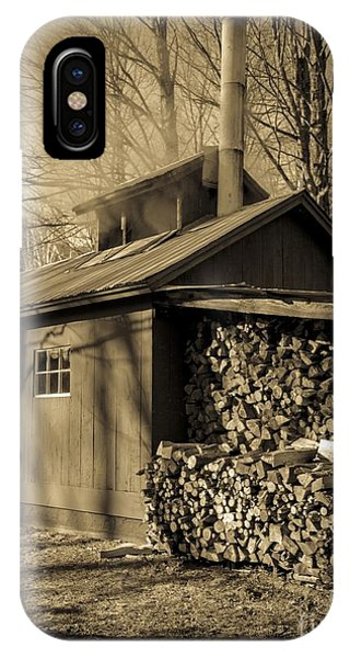 New England Barn iPhone Case - Vermont Maple Sugar Shack Circa 1954 by Edward Fielding