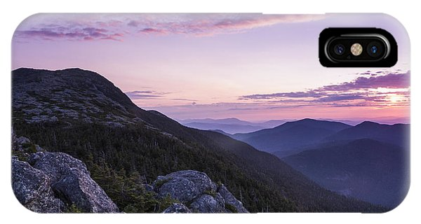 Vermont Mount Mansfield Sunrise Green Mountains IPhone Case
