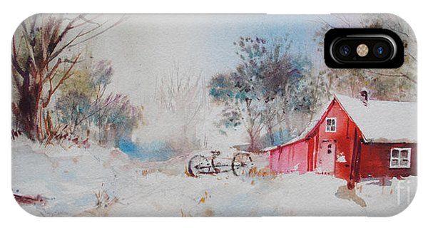 Barn Snow iPhone Case - Vermont Sugar Shack by P Anthony Visco