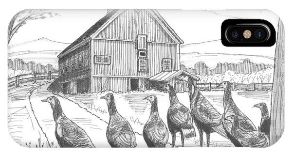 Vermont Wild Turkeys IPhone Case