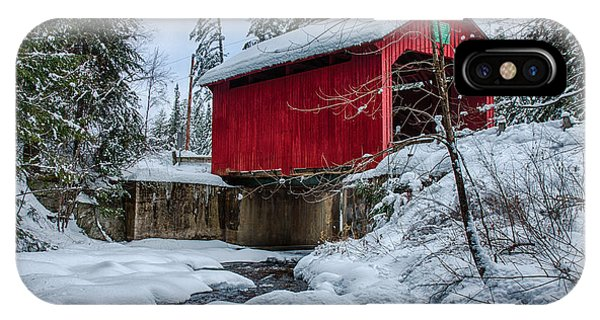 Vermonts Moseley Covered Bridge IPhone Case
