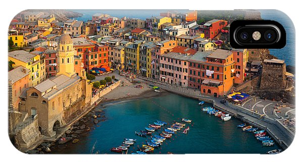 Sunset iPhone Case - Vernazza Pomeriggio by Inge Johnsson